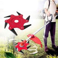 정원 잔디 깎는 기계 블레이드 망간 스틸 잔디 트리머 브러시 커터 헤드 6 칫솔 커터 Brushcutter 잔디 깎는 기계 도구 부품
