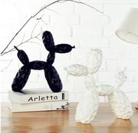 عثرة جيف Koons لامعة بالون الكلب تمثال الحيوانات الراتنج الحرف سطح المكتب غرفة المعيشة النبيذ الجدار شنقا الزينة