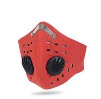 Anti-Staub Radfahren Masken PM 2.5 Mouth Muffel Radfahren Racing Half Face Filter Cover Designer Maske mit 2 Stück Filtermatte CCA12123 60pcs