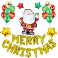 الديكور عيد الميلاد الألومنيوم احباط بالون عيد الميلاد مجموعة اللاتكس بالون الرئيسية عيد الميلاد كارتون سانتا كلوز الهليوم بالون بالجملة DBC VT1057