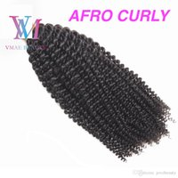 VMAE 4A 4B 4C 1g stand Brazilian Remy Virgin Flat Tip Human Hair Extensions Afro Kinky Curly Straight Body Deep Wave Pre Bonded