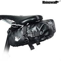 Rhinowalk TF550 Велоспорт Полный водонепроницаемый подседельный сумка велосипедов Седло Pannier Автомобильный задний мешок MTB 420D Нейлон сиденье передач чемоданчик MX200717