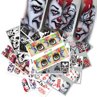 25 Sets New Design Halloween Nail Stickers ins Devils Pumpkins Manicure Europe and America Watermark Stickers
