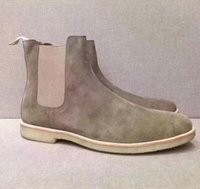 Men designer ankle boots Common Projects suede Chelse boot k...