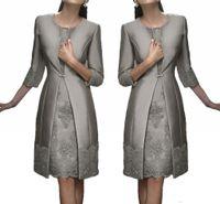 Vintage Carla Ruiz Diz Boyu Anne, Off The Gelin Damat Artı boyutu Suits Uzun Ceket AYDINLATMA Dantel Wedding Guest Elbiseler