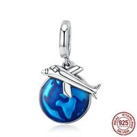 Горячий продавать ювелирные изделия стерлингового серебра 925 Подвески Путешествуйте по всему миру Браслет шарма шариков последний дизайн бисером ожерелье
