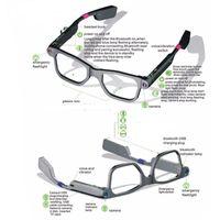 fotocamera di alta qualità Bluetooth 4.0 uomo donna intelligente occhiali da sole degli occhiali Support Phone Call vedio Built-in 8G TF Musica