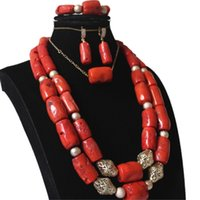 4UJewelry African Jewellery Set 12- 20mm Big Coral in The Mid...