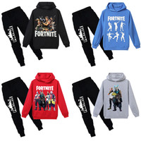 Kids Cartoon Hooded Suits 16 Colors Fortnite Printed Letter ...