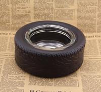15.5 * 6cm Art und Weise Umweltfreundliche Glas Reifen Zylinder Aschenbecher Shatterproof Zigarrengläser runde Aschenbecher Raucher Werkzeuge
