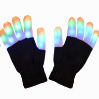 Direto da fábrica de dança hip hop luvas luminosas glitter luvas luvas LED atacado