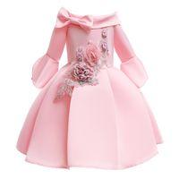 Modello principessa Dress Summer Flower 2-10years Little Girls Wedding Party del vestito dal tutu per i costumi del bambino della ragazza dei bambini di sfera