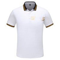 2019 Summer Designer Men's Women Polo Shirts Brand Casual Luxury Solid Alta calidad Top Fashion Men Clothing Cotton Blend 4 Estilos M-3XL