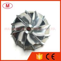 GT2256V 436336-0019 39,60 / 56.03mm 6 + 6 lames haute performance Turbo compresseur roue billettes / Aluminium 2618 / roue de fraisage