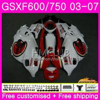 SUZUKI KATANA 용 GSX750F GSXF 750 600 03 04 05 06 07 럭키 스트라이크 키트 2HM.11 GSXF750 GSX600F GSXF600 2003 2004 2005 2006 2007 페어링