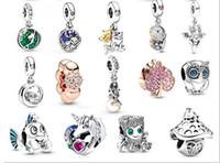 Подходит Pandora Браслеты 30pcs Unicorn Frog Рыба серебряные Подвески из бисера мотаться Charm Beads для оптовой продажи ювелирных изделий Diy Европейский Sterling ожерелье