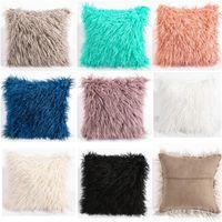 Plüsch Kissenbezug Lange Wolle Weiche Warme Kissenbezug Kissenbezug Bett Sofa Car Home Dekorationen 8 farben 45x45 cm