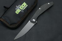 녹색 가시 SIGMA 플립 접는 칼 M390 블레이드 탄소 섬유 야외 캠핑 사냥 생존 전술 주방 과일 칼 EDC 도구를 처리
