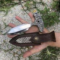 ADCO a2269 사람을 위해 자기 존중 손 찔린 가시 푸시 나이프 핸들 캠핑 전술 나이프 EDC 나이프 크리스마스 선물