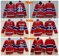 Hombres Lady Kids Montreal Canadiens 13 Juvenil Carey Precio Jersey Man Mujer 13 Max Domi 11 Brendan Gallagher Hockey en blanco Jerseys Red