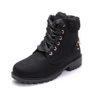 Autunno di alta qualità di inverno e di nuovi cotone più velluto stivali caldi Martin stivali delle donne rivetta gli stivali delle donne boots2019