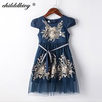 373673731 New Arrival. ChildDkivy 2-8 Year Kids Princess Fashion Dress for Baby Girls  Girls Lace Summer Dress 2018 Children Party