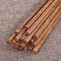 Japon Doğal Ahşap Bambu Chopsticks Sağlık Lake Balmumu Sofra Yiyecek Yiyecekler Hashi Suşi Çince