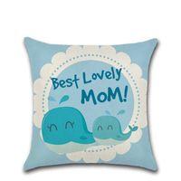 45 * 45cm Mothers Day 15 stili del cuscino di caso Lino Lettera Piazza Car Cover Casa tessile per l'arredamento 4 8khE1