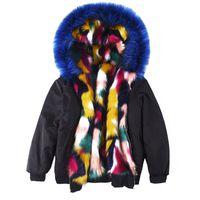 겨울 여성 새로운 두꺼운 따뜻한 두건 가짜 가짜 모피 코트 여성 패션 높은 qaulity 인공 모피 자켓 플러스 캐주얼 파크 z593