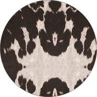 Tournesol Imprimé Léopard Serviette de Plage Tête de Taureau Couverture Girafe Tapis de Yoga Couleur Rayé Tapis Rond Fibre de Polyester 23 5yd C1