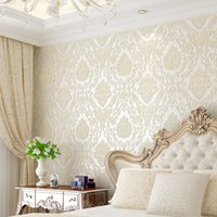 Modern Damask Fondos de pantalla en relieve Textured 3D cubierta de pared para dormitorio sala de estar decoración