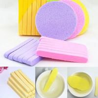 12pcs / set Gesichtsreinigungsschwamm Gesichtsreiniger Mat Puff Compressed Reise Make-up Gesichtswasch-Stick Schönheit kosmetische Werkzeug-Zubehör