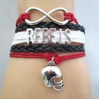 Jewelry Infinity Love State Rebels Football Team Bracelet Sp...