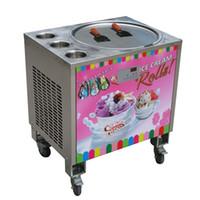 콜라스 식품 가공 장비 50cm 팬 + 3 탱크 튀김 아이스크림 롤 기계 W Auto Defrost, PCB의 Samrt AI Temp.Controller