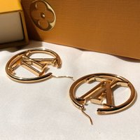 L hoop earrings luxury letter cart orecchini circle famous d...