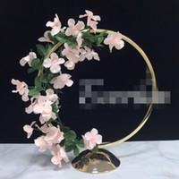 웨딩 테이블 장식 best1233에 대한 새로운 높은 빅 골드 그린 웨딩 트리 centerpieces 도매