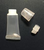 tubo del rossetto vuoto di trasporto 8ml, balsamo per le labbra tubo, bottiglia di spremere, tubo di plastica, Lip Gloss contenitore Tubo bottiglia vuota