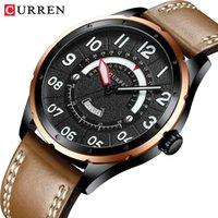 CURREN Brand Luxury Man Watch New Fashion Quartz Watches Men Leather Strap Wristwatch for Men Date Clock Male Casual Style