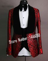 Handsome One Button Groomsmen scialle risvolto smoking dello sposo degli uomini Wedding Dress Man blazer Prom Cena adatta (Jacket + Pants + Tie + Vest) W02