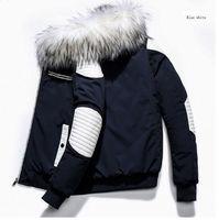 Collar nuevo de la manera de piel para hombre de la chaqueta del algodón con paneles de alta calidad a largo sección gruesa hombres abrigo de invierno con capucha del abrigo de pieles 3 collar color M-2XL