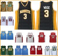 NCAA College Dwyane 3 Wade Basquete Jersey Homens Universidade Marquette LoiuzxcilvzlixCuv