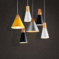 Pendentif en bois moderne plafond suspendu LampBar Villa Hôtel Home Living Lustre Cuisine Luminaire PA0010