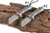 Özel Fırsat H012 Mini Küçük Flipper Katlama Bıçak VG10 Şam Çelik Bıçak TC4 Titanyum Alaşım Kol Rulmanlı Bıçaklar