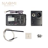 NAOMI 기타 EQ SV-T750 5 밴드 EQ 이퀄라이저 기타 픽업 어쿠스틱 기타베이스 EQ 프리 앰프 W / 디지털 방식 처리 튜너