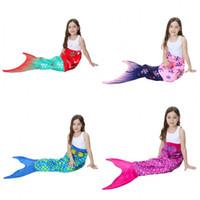 Cobertores de escala de sereia com cauda padrão cobertor de dormir onda material de veludo de camada dupla crianças como toalha de praia moda 43tsH1