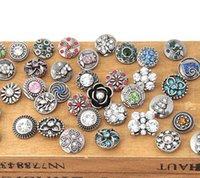 12mm Snap Düğmesi Karışık Stil DIY Değiştirilebilir Takı Snap Sıkı Charm Düğmesi Fit Noosa Zencefil Snap Bilezikler Toptan