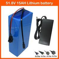 750W 52V 15AH Lithiumbatterie 51.8V Elektrische Fahrradbatterie 14S 51.8V EBike Motorradbatterie 52V 15AH 58.8V 2A Ladegerät