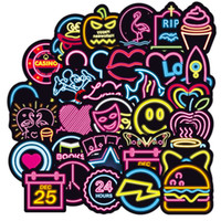100PCS Waterproof Stickers Neon graffiti sticker personality...