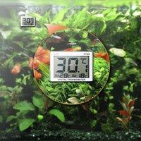 Mini LCD numérique poisson aquarium Thermomètre submersible Température compteurs d'eau Contrôle de la température d'alarme