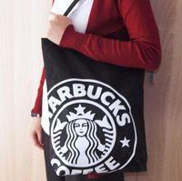 حقيبة كتف جديدة في منتصف الحجم، حقيبة تسوق تغليف هدايا B-654،33.5 * 8 * 41 سنتيمتر صديقة للبيئة الأخضر ستاربكس أكياس القهوة